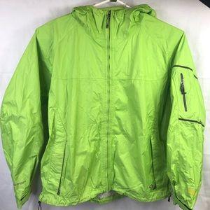 Mountain Hardwear Sz XL Women's Green Rain Coat